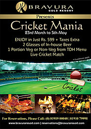 Bravura Gold Resort Presents CRICKET MANIA (23rd March to 5th May, 2019).