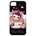 Kawaii skull cupcake with stars and hearts iPhone 5 cases from Zazzle.com