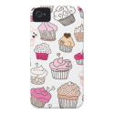 Cupcake sweet candy cake pattern Case-Mate iPhone 4 cases from Zazzle.com