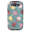 Cupcakes on Blue Galaxy S3 Cover from Zazzle.com