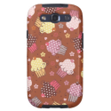 Cupcakes on Chocolate Samsung Galaxy SIII Cover from Zazzle.com