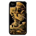 Van Gogh Skull With Burning Cigarette iPhone Case from Zazzle.com