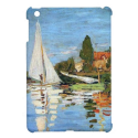 Regatta At Argenteuil Fine Art by Claude Monet iPad Mini Cover from Zazzle.com