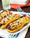 Chipotle Black Bean Stuffed Delicata Squash