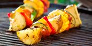 Grilled Potato Kabobs with Lemon Herb Drizzle