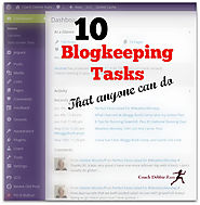 10 Blogkeeping Tasks that Anyone Can Do