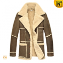 Fur Lined Christmas Trench Coat CW819431 - CWMALLS.COM