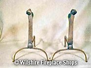Antique Cast Iron Andirons at Wilshire Fireplace Shop