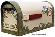 Hand Painted Curbside Hummingbird Mailbox