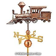 Copper Train Weathervane – Locomotive | Beverly Hills
