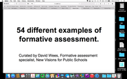 54 Different Examples of Formative Assessment