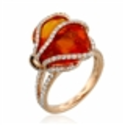 Yael Designs Lava Fire Opal Ring