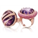 Vancox Amethyst and Fancy Sapphire Rings