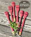 DIY Wooden Spoon Herb Plant Markers - The Gardening Cook