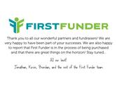 Thank You from First Funder