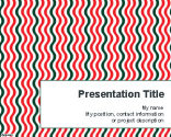 Vertical Wavy Lines PowerPoint Template | Free Powerpoint Templates