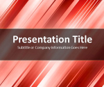 Slanted Bars Red PowerPoint Template