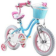 RoyalBaby Stargirl 12 Inch Girl's Bike with Training Wheels and Basket
