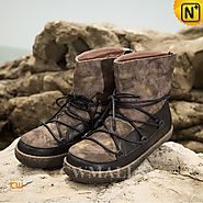 Womens Winter Leather Snow Boots CW305565