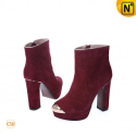 Women Thick Heel Leather Boots CW309016 - M.CWMALLS.COM