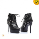 Women Black High Heels Leather Boots CW309112 - M.CWMALLS.COM