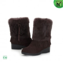 Women Fur Suede Leather Snow Boots CW332103 - M.CWMALLS.COM